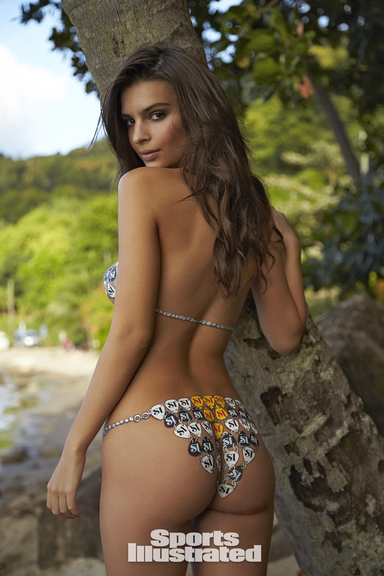 Emily ratajkowski swimsuit body paint photos sports for Best body paint pics