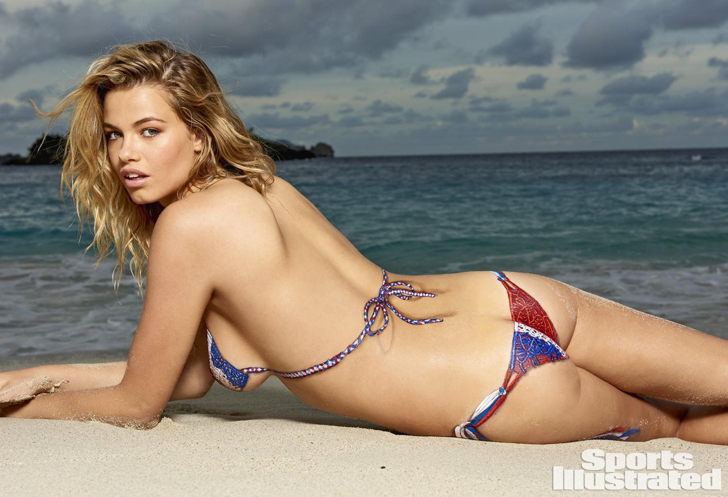 ... Clauson Swimsuit Body Paint Photos, Sports Illustrated Swimsuit 2015