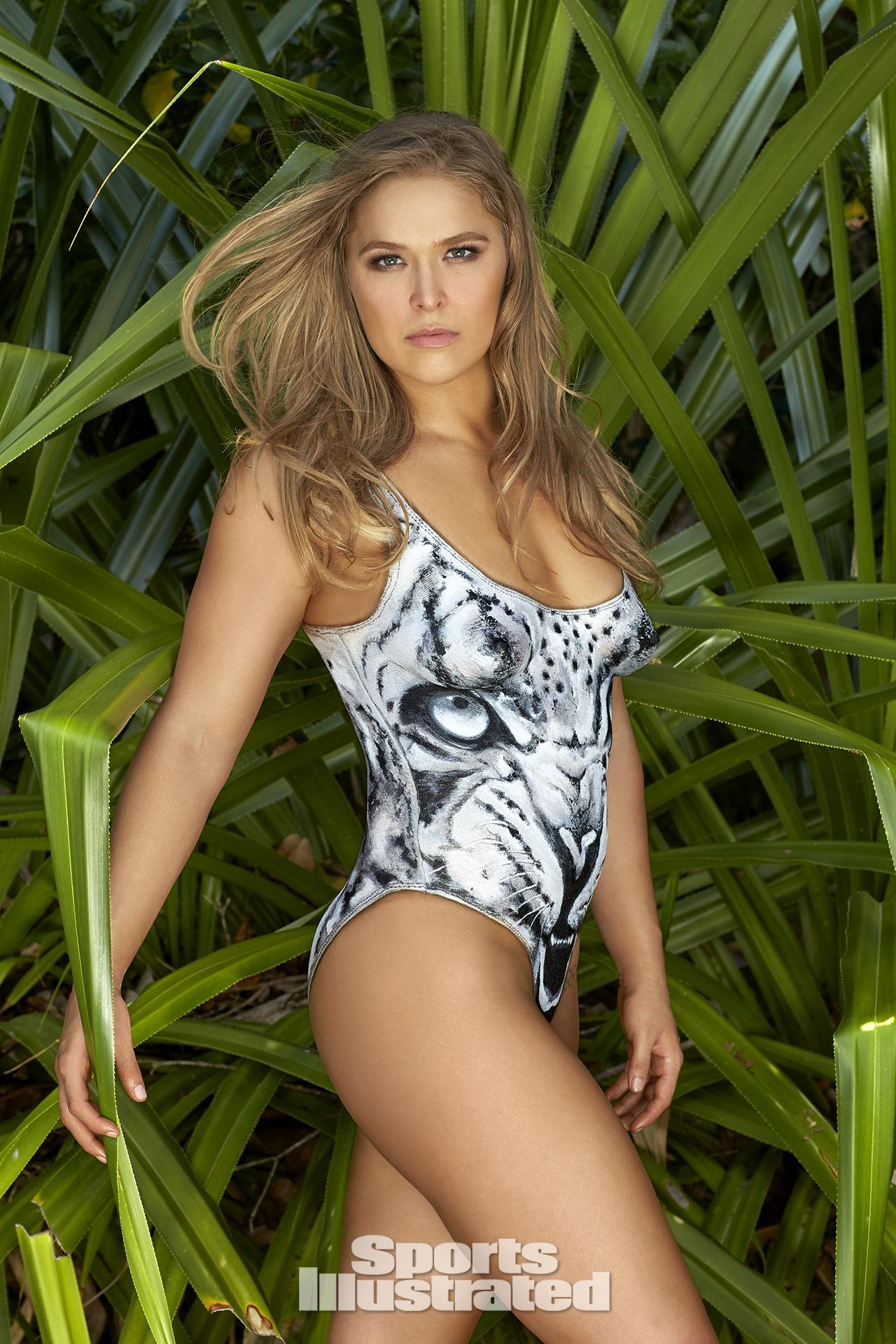 Ronda Rousey was photographed by Frederic Pinet in Petit St. Vincent ...