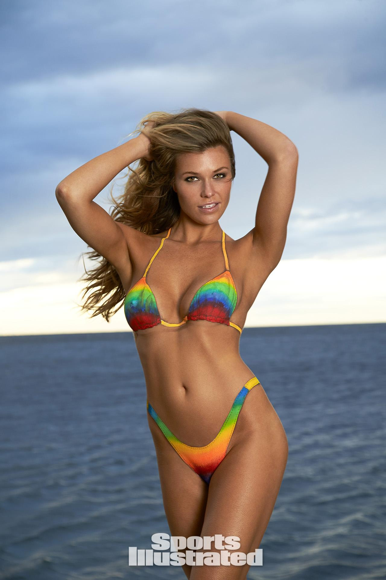 ... Hoopes Swimsuit Body Paint Photos, Sports Illustrated Swimsuit 2014