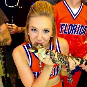 Meet Haley from the University of Florida, who loves steak and red potatoes.  Her celebrity crush is Jared Padalecki, and she would want Tim Tebow to follow her on Twitter because he's such a positive ambassador for her school.
