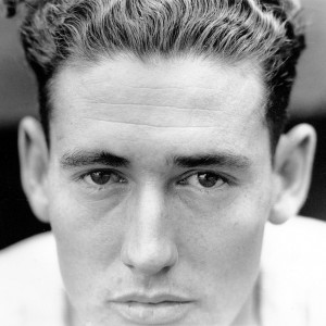Ted Williams poses for a portrait at Yankee Stadium in 1941.