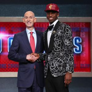 The top pick, Wiggins goes bold with a floral print jacket and rocks the no-sock look.