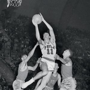 Stalwart jump shooter from the Philadelphia Warriors. My first hoops hero, but this is no loyalty vote. Pitchin' Paul belongs.