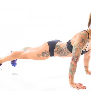 From The Badass Body Diet, by Christmas Abbott: The Sexy Back Pushup, Part 1