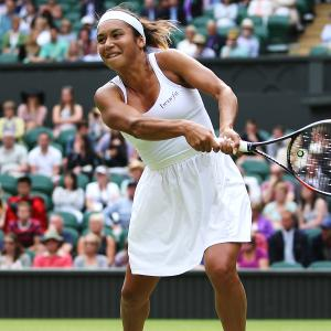 The Lululemon dress looked like a white Hefty bag on Watson.