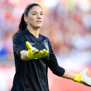 """CAPTION: Hope Solo, the goalie of the USWNT, was suspended for six months in late August 2016, following her comments at the Summer Olympics when she called the Swedish players """"cowards"""" for their defensive style in eliminating the U.S. in the quarterfinals. She joins a long list of high-profile athletes who were suspended during their careers."""