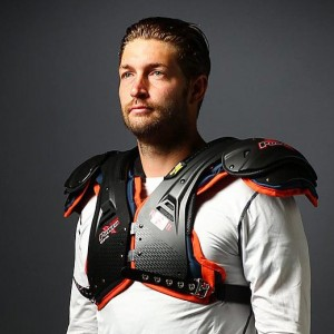 Eight Pro Bowl-caliber quarterbacks grace the cover of Sports Illustrated's NFL preview issue, including Bears quarterback Jay Cutler. While many of the QBs opted for a scowl in their photo, Cutler displayed a lighter side, beaming for the cameras. Here are a few outtakes from Cutler's photo shoot, spanning a range of emotions.