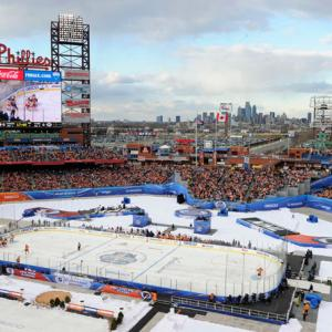 The rivals staged a classic battle at Philadelphia's Citizens Bank Park with the Rangers climbing out of a 2-0 hole. Brad Richards' goal at 5:21 of the third period put New York up and set the stage for a cliffhanger finish. After Rangers defenseman Ryan McDonagh was whistled for covering the puck with his hand in New York's crease, goalie Henrik Lundqvist stoned Philly's Danny Briere on a penalty shot with 19.6 seconds left in regulation to preserve the win. Afterward, Rangers coach John Tortorella earned a $30,000 fine for roasting the refs:
