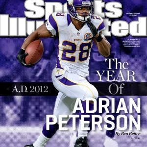 Adrian Peterson shredded his knee on Christmas Eve 2011 and went under the knife six days later. Now, driving himself relentlessly, he's two good games from the all-time single-season record. The best running back of our age is the NFL's best story of the year, Ben Reiter writes.