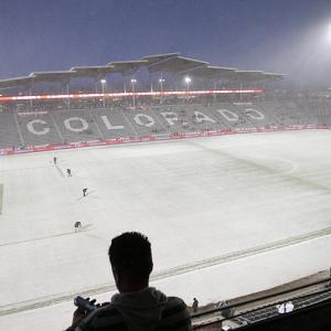 A snowfall carpeted the field at Dick's Sporting Goods Park even before the United States and Costa Rica kicked off a World Cup qualifier, won by the U.S. 1-0.