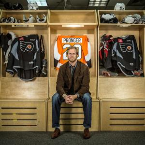 With his 18-season NHL career in jeopardy, Flyers defenseman Chris Pronger visited the team's Skate Zone facility in Voorhees, NJ, and spoke to SI about his ongoing battle with post-concussion symptoms and a debilitating eye injury. You can watch the video of his interview and read Brian Cazeneuve's feature story in the April 22 issue of Sports Illustrated. Here's a look back at Pronger's distinguished and surely Hall of Fame career.