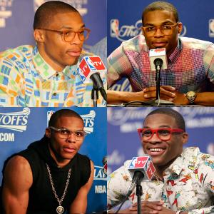 Knee surgery will sideline Russell Westbrook indefinitely, robbing the Thunder of their dynamic, ball-hawking guard. One of the NBA's most unique dressers, Westbrook will be missed off the court as well. Here's a look back at his most memorable wardrobe choices.