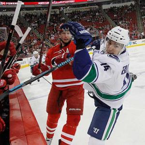 Out since Dec. 1 with a broken jaw, the usually durable forward, once a productive linemate of the Sedins, has had a brutal season that started with a broken foot on Opening Night. (He missed more than three weeks.) But even when Burrows was in Vancouver's lineup, the Canucks went 6-7-4 in the 17 games he played. He saw the ice for more than 18 minutes per game, but failed to score a goal despite taking 49 shots and his -7 rating was the worst among the team's forwards. His slump and absence has forced coach John Tortorella to search for someone to slot in on the Sedins' line in the hope they can recreate some of the chemistry the twins used to have with Burrows. -- Brian Cazeneuve Ten Best NHL Player Surprises