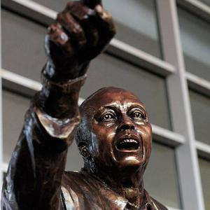 Former Temple basketball coach John Chaney, who led his Owls to five Elite Eight appearances, was honored with a statue in his image in February 2014. Here are some others who've been so honored, along with a link here and on the last frame to a related gallery of college football icons with statues.