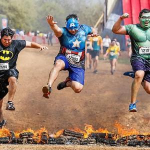 Welcome to another sizzling installment of Did You See That?, the weekly gallery that always strives to meet only the highest, most rigorous intellectual standards. Let's warm up with these palookas rising to the challenge of the World's Largest Obstacle Race Series way down yonder in Smithville, Texas.