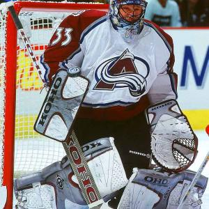 Patrick Roy dominated the NHL for 18 seasons while popularizing the butterfly style: pads to the ice, stick covering the five-hole as he dared shooters to find the slivers of space above his shoulders. Fearless, smart, technically precise, iron-willed and cocky, Roy set career records for games (1,029 regular season; 247 postseason), wins (551/151) and postseason shutouts (23) while winning three Vezina Trophies and four Stanley Cups.