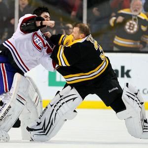 When goalies square off, you never know if you'll get a stirring heavyweight bout or, like this one, a clumsy waltz between two sacks of equipment.