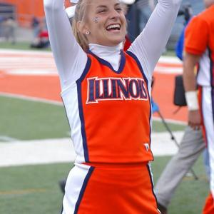 Meet Kelli, a soon-to-be sophomore and proud member of the Illinois cheer squad. When she's not cheering on her Fighting Illini, Kelli likes to watch Grey's Anatomy and lift weights. Wanna learn more about Kelli? Click on the 20 Questions link below.