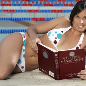 She may be known for her Olympic medals and Playboy pictorial, but Beard also spent two seasons at Arizona, where as a sophomore, she won an NCAA title in the 200-meter breaststroke. And as this photo demonstrates, she never neglected her studies.