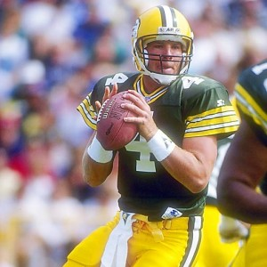 In his second year as a pro and first as a Packer, Favre was called on in relief and tossed a 35-yard TD strike to Kitrick Taylor in the final minute to help Green Bay defeat the Bengals 24-23.
