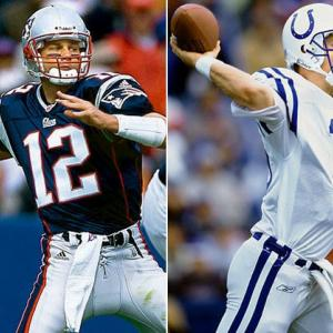 The Brady-Manning rivalry began on a positive note for the Patriots. In Brady's first NFL start, Manning threw three interceptions in an easy New England victory.