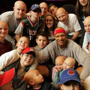 With athletes so often in the headlines for misdeeds, it's heartening to know there are some who make a positive difference in the world. Here are 10 examples. Growing up with alopecia areata, a congenital autoimmune skin disease that causes hair loss on the scalp and sometimes the entire body, made life difficult for Bucks forward Charlie Villanueva. Now he offers financial and emotional support to kids such as Alex Fabozzi, 16 (top left), who suffers from the disease.