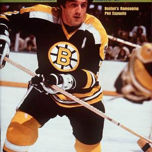 1970-71: 76 in 78 games1971-72: 66 in 76 games1973-74: 68 in 78 games 1974-75: 61 in 79 games The Bruins' Hall of Fame center was the first to reach the mark, by scoring 76 goals in 1970-71. It was the first of his four 60  campaigns, all of them accomplished before Philadelphia's Reggie Leach became the second 60-goal player, in 1975-76.