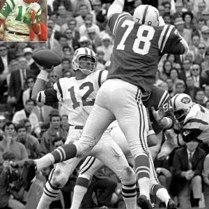 The Colts had lost just one game that season, but Joe Namath guaranteed a Jets win the Thursday before the game and backed up his audacity by completing 17 of 28 passes for 208 yards in leading New York to a 16-7 victory.