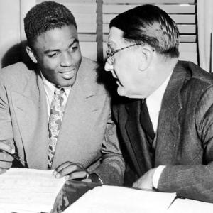 Branch Rickey, 83, collapses and dies while giving a speech to an audience in Columbia, Mo. Rickey was responsible for breaking the color barrier in 1947 with the signing of Jackie Robinson. Rickey also implemented the concept of farm systems for the major leagues.