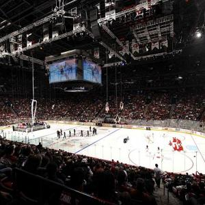 In this year of the 100th anniversary of the Montreal Canadiens, the city's Bell Centre hosted the 57th All Star Game with Cirque Eloize as part of the opening celebrations.