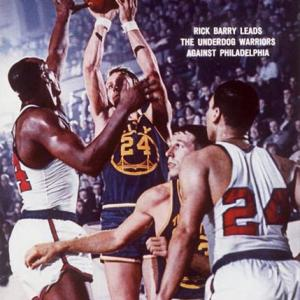 San Francisco Warrior Rick Barry scores 52 points against Chicago, marking his second consecutive 50-point game.