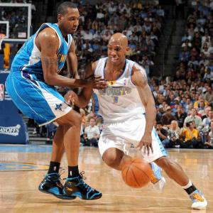 Chauncey Billups scored 36 points and made a career-best eight 3-pointers while leading the Nuggets to a 113-84 rout. It was the second-biggest blowout in Nuggets' playoff history.