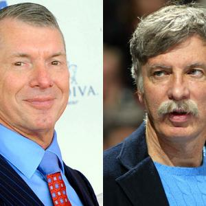 In a dispute that has all the makings of a pay-per-view main event, WWE chairman Vince McMahon challenged Nuggets owner Stan Kroenke to a steel-cage match.  McMahon is angry because Kroenke double-booked the Pepsi Center with Game 4 of the Western Conference finals and a Monday Night Raw show that is expected to sell out and has been on the schedule since last August. McMahon says the WWE still plans to be in Denver on Monday night and that Raw will air live on USA Network whether there is a Nuggets game or not. Maybe they can hold the shows simultaneously with the Lakers and Nuggets getting in the ring for a battle royal to decide Game 4.