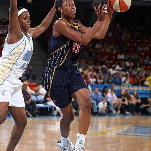 The Fever could have gone into the tank after center Tammy Sutton-Brown suffered a stress reaction in her right big toe against Connecticut. (It kept her from finishing that game and out of matchups at Washington and against Chicago.) Instead, they went to the bench, plugging in backup pivot Jessica Moore (pictured) into Sutton-Brown's spot and didn't miss a beat. The fifth-year veteran averaged 9.3 points and 3.3 rebounds in wins over the Sun (94-85), the Mystics (87-79) and Sky (76-67) that helped extend the Fever's commanding Eastern conference lead over the second-place Sun to five games. Next three: 8/8 at Phoenix; 8/10 at Los Angeles; 8/13 at Minnesota