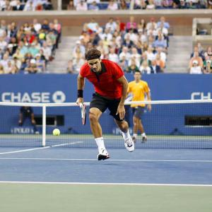 Federer pulled off what he called his greatest shot ever during his victory against Novak Djokovic in the U.S. Open semifinals. The Grand Slam king hit a between-the-legs, back-to-the-net, cross-court winner to give him a match point (which he then converted to win in straight sets). Here's a look at the sequence of Federer's memorable shot.