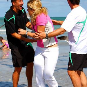 The Belgian beauty learned an alarming lesson: never wear eau de cod perfume during a trip to the beach -- in this case, Miami Beach, during the Sony Ericsson Open -- unless you really love seagulls.