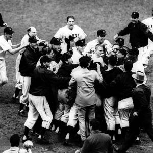 The top sports moments to happen within the city itself, including neutral-site matchups such as college bowl games, super bowls, NCAA Tournaments, etc.    The 1951 National League pennant was won when New York Giants outfielder Bobby Thomson blasted a walk-off homer against the Brooklyn Dodgers at the Polo Grounds in Upper Manhattan. Thomson's