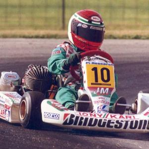 A pint-sized Danica Patrick got her start early in racing. Here she is at 12, kart racing in Dousman, Wis.