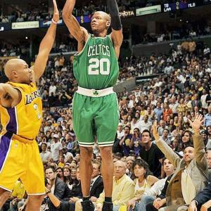 On Feb. 10, using the most flawless jump shot in NBA history, Ray Allen surpassed Reggie Miller to become the career leader in three-pointers, with 2,561. Who else did Allen pass on his way to the top? Here are the players with the most three-pointers in NBA history, with the caveat that Paul Pierce and Steve Nash are poised to crack this top 10 soon. (The league introduced the three-point line in 1979.)