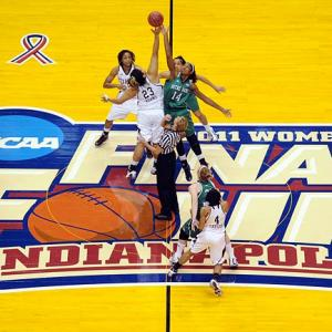 Texas A&M and Notre Dame tip off in the 30th Anniversary of the women's NCAA Championship. It was Texas A&M's first  title game appearance and Notre Dame's first since winning the 2001 national championship.