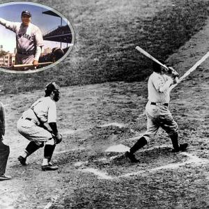 When Babe Ruth came to bat in the fifth inning of Game 3 of the 1932 World Series, Cubs fans and players taunted the slugger mercilessly. Then, the Sultan of Swat pointed. Over the centerfield fence? Or at the pitcher? Historical evidence is mixed, but legend holds that Ruth predicted a home run and delivered on the next pitch. The homer was his second of the game and led the Yankees to a 7-5 win.   (Send comments to siwriters@simail.com)