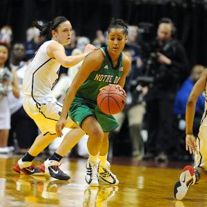 Guard Skylar Diggins was an unstoppable force for Notre Dame, registering a team-high 28 points and six assists in the Irish's upset victory.