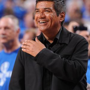 George Lopez brought Game 3 of the Finals to standstill when he spilled his drink on the court. Way to go, George.