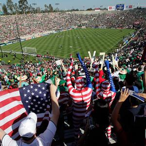 The Rose Bowl was home to the Gold Cup final, which meant a majority Mexican contingent among the 90,000 fans.