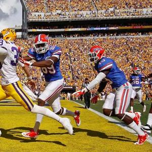 There's a silver lining for Florida: No stretch this season will be harder than facing Alabama and LSU in back-to-back weeks. LSU back Spencer Ware rushed for 109 yards, and the Tigers outgained the Gators 453-213 on a day when injuries thrust true freshman Jacoby Brissett into Florida's starting spot. LSU punter Brad Wing (pictured) also scored on a fake punt, but the touchdown was called back for taunting.