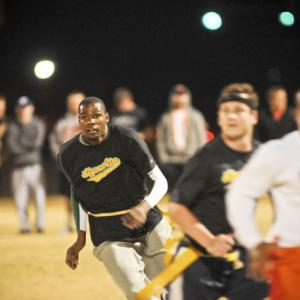 LeBron James and Kevin Durant squared off on Wednesday. The game wasn't played on the hardwood, however, but rather the soft grass of a flag football field. The two had been trash talking over Twitter about their gridiron greatness and decided to stage an exhibition to see who was the best. Team LeBron beat Team Durant, 70-63, on a touchdown with 30 seconds to play. In honor of this heated contest, here's a look at other athletes and celebrities playing flag football.