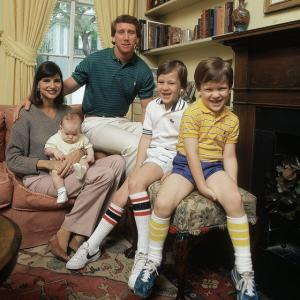 Baby Eli poses with his family during a 1981 SI photo shoot at the Manning residence in New Orleans.