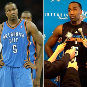 Before:  April 10, 2011  After:  Dec. 13, 2011  One of the biggest questions heading into the lockout was: Who would become the next Shawn Kemp and return grossly overweight? Well, it seems many players took note of Kemp's infamous 1999 return and took the opposite approach. And none more so than Oklahoma City big man Kendrick Perkins, who dropped nearly 40 pounds in his time off to shock fans and media alike. He ain't squishy no more!