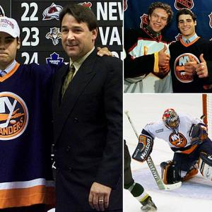 Rick DiPietro was the first goaltender ever drafted No. 1 overall by an NHL team. Chosen by the New York Islanders in 2000 ahead of such future stars as Dany Heatley (No. 2, Atlanta), Marian Gaborik (3, Minnesota), Scott Hartnell (6, Nashville), and Ilya Bryzgalov (44, Anaheim), the historic pick was the brainchild of Isles general manager Mike Milbury, who surely earned his moniker